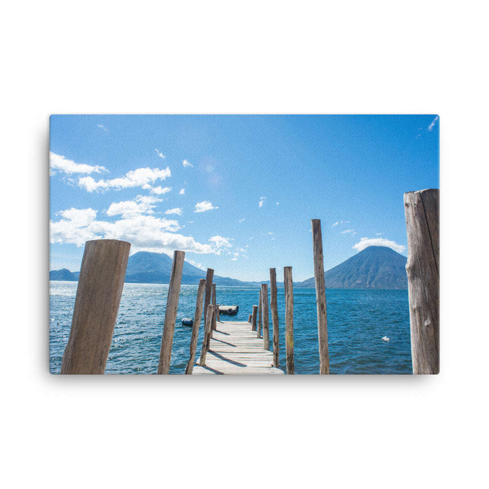 Lake Atitlan Boat Dock at Jaibalito - Gallery Canvas