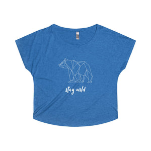 Stay Wild Women's Tri-Blend Dolman