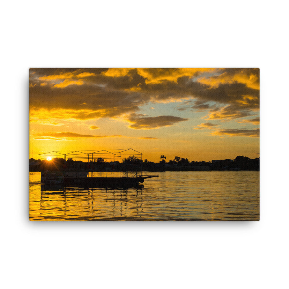 Flores at Sunset - Gallery Canvas