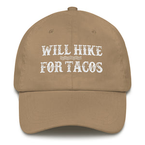 Will Hike For Tacos Cap