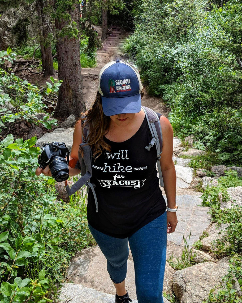 Will Hike for Tacos Women's Muscle Shirt