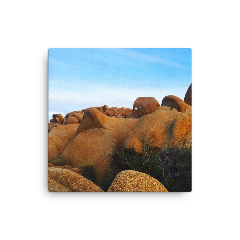 Joshua Tree Rock Formation - Wall Art Gallery Canvas