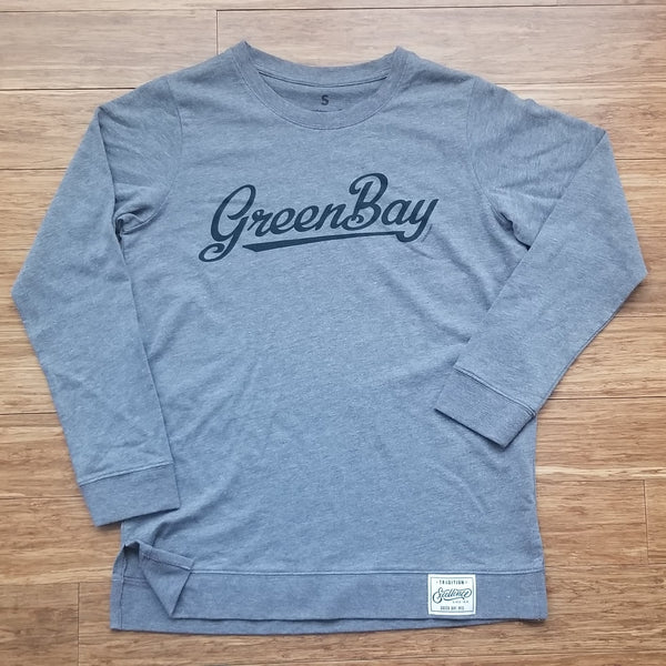 Green Bay Script Long Sleeve Pullover