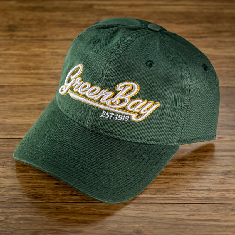 Green Bay Script Dad Hat