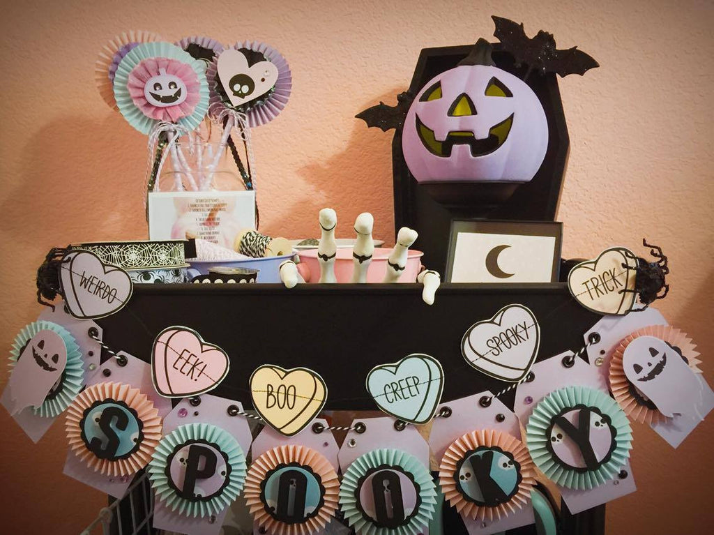 Spooky Pastel October Daily Inspiration by Sabrina Ann