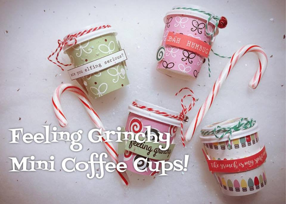 Feeling Grinchy Mini Coffee Cups by Sabrina Ann