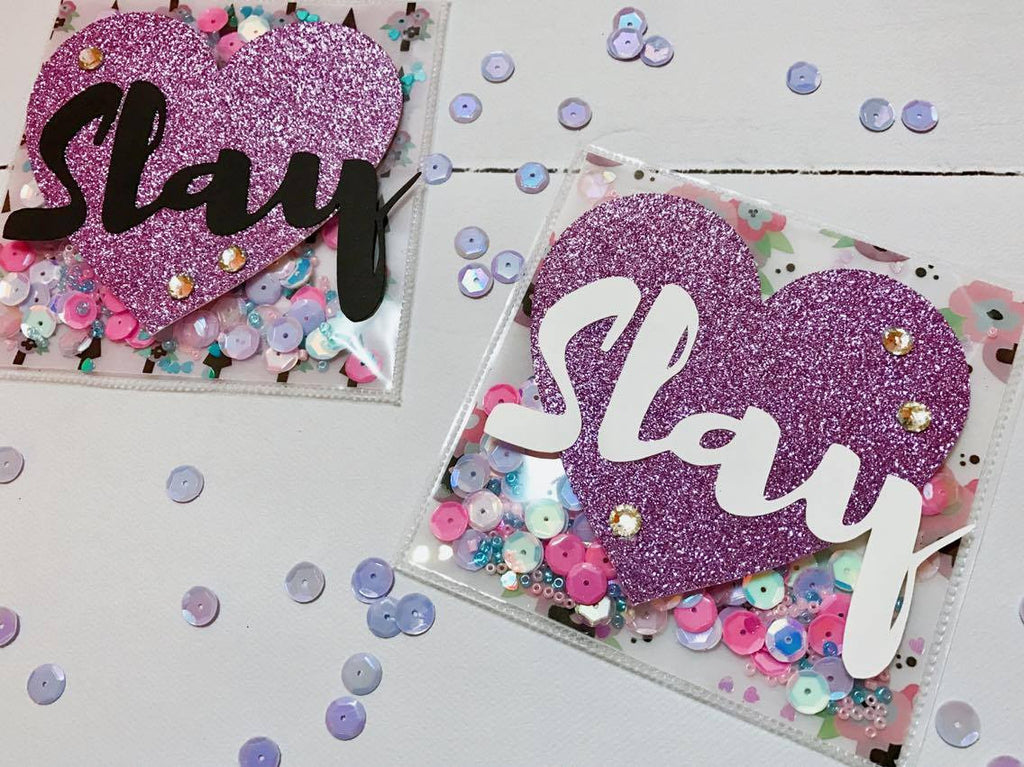 Slay It Girl Shaker Cards By Sabrina Ann