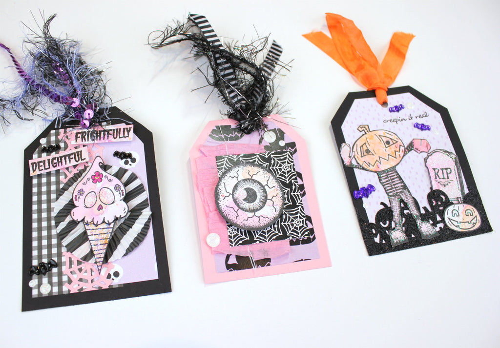 Watercolor Halloween Tags by Serena Bee