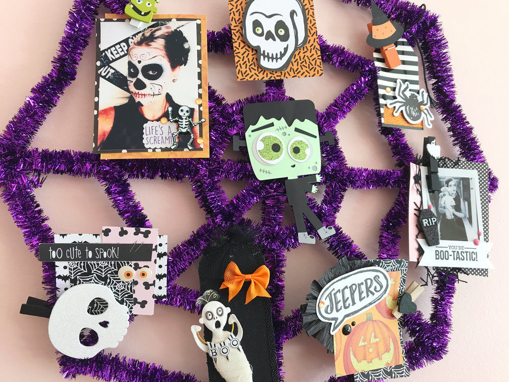 Halloween Memory Web + Tag Tutorial | Halloween Happy Mail Series