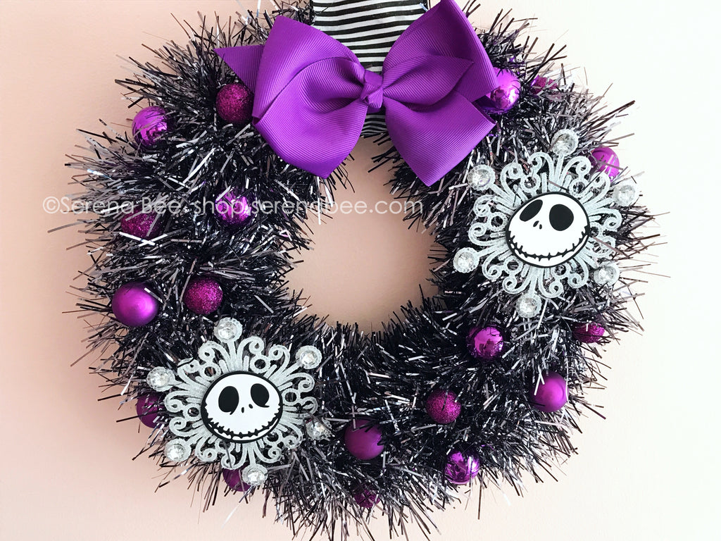 DIY Tinsel Wreath Tutorial | Jack Skellington Wreath