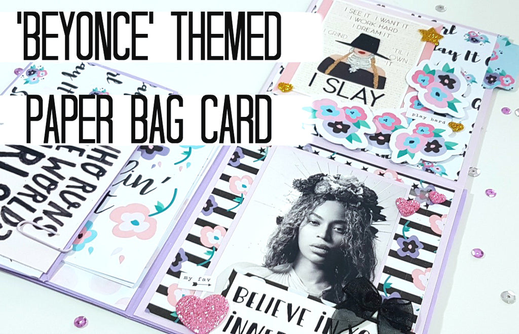 Inspirational Women's Week: Beyoncé Paper Bag Card By Rachel