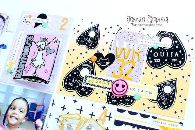Project Life Spread by Jennie Garcia! Spooky Pastel and October Nights Collections