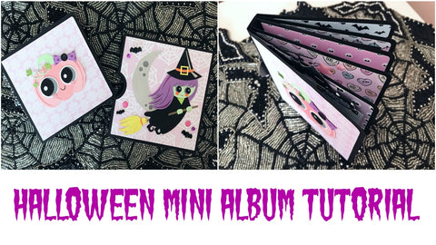 Spooky Pastel Mini Album | Serena Bee's Halloween Craft Series 2017