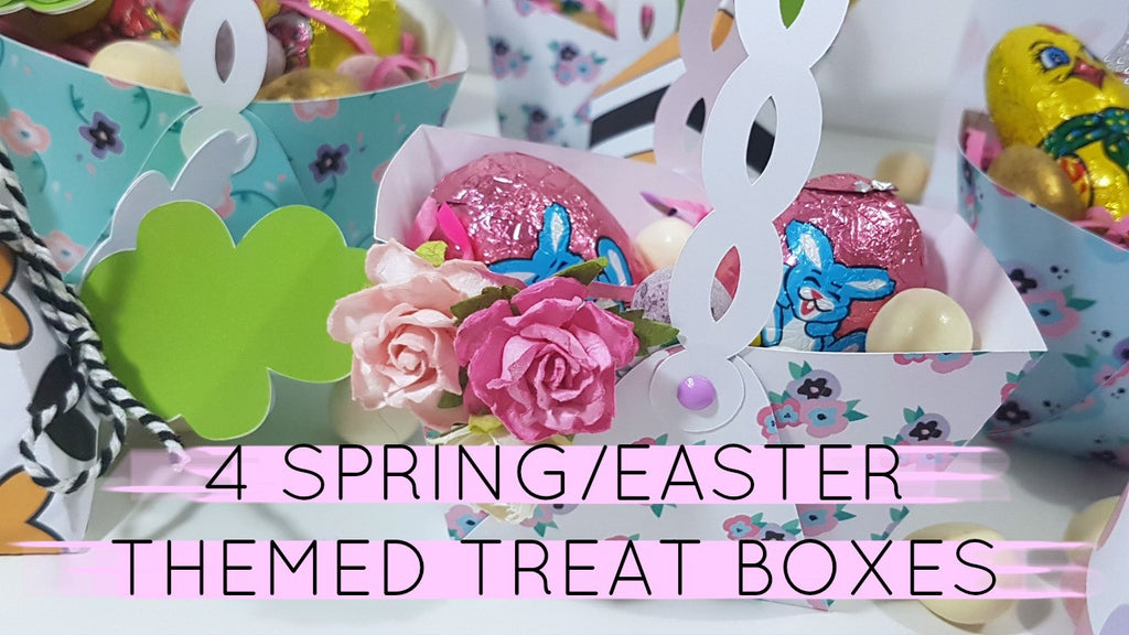 4 Spring/Easter Themed Treat Boxes By Rachel