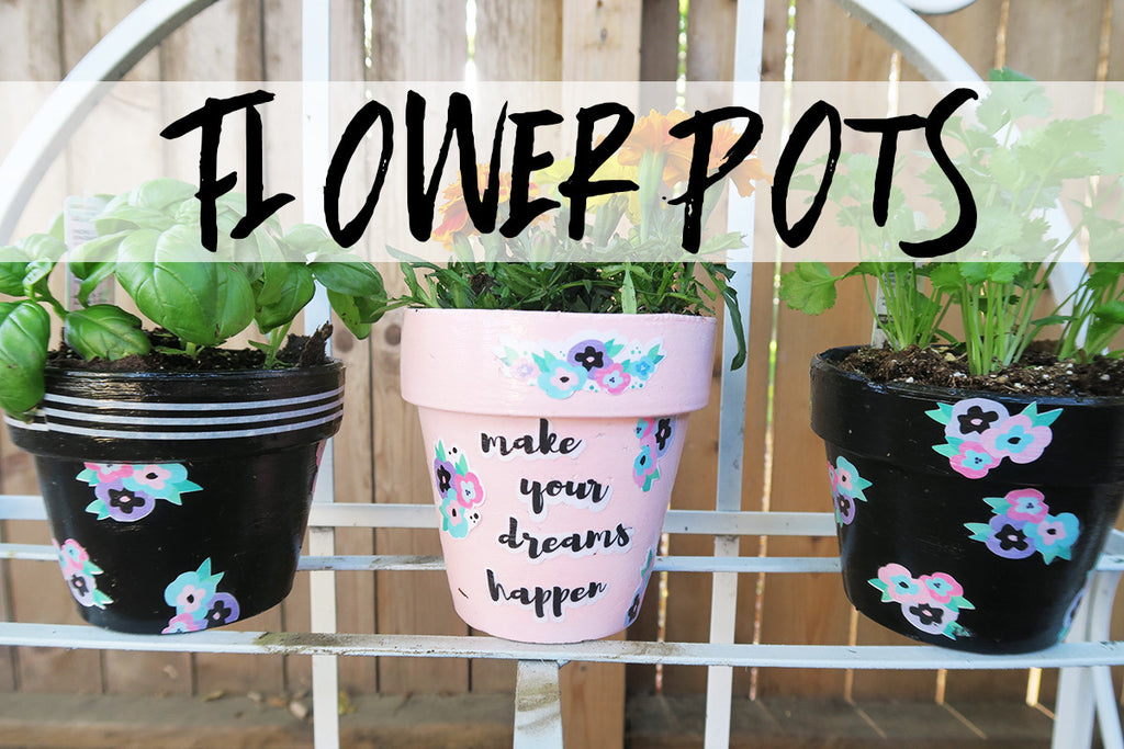 Altered Flower Pots By Taylor