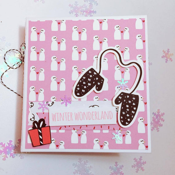 Snow Day Mini Album By Sabrina Ann. Papercakes Design Team. www.serenabee.com