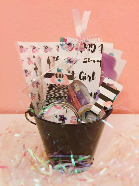 Slay It Girl Embellishment Gift Buckets By Sabrina Ann. Papercakes design team. www.serenabee.com