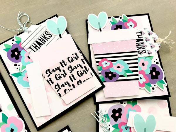 Thank You Cards Tutorial By Amador. Papercakes design team. www.serenabee.com