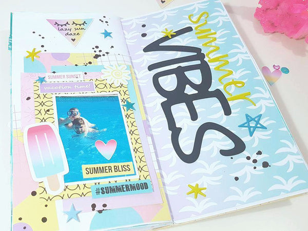 traveler's notebook, creative journaling, summer babe