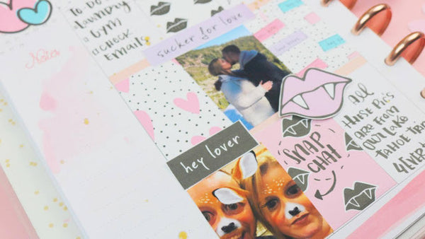 Love Bites Planner Spread by Sandra Spitaleri. Papercakes guest designer. www.serenabee.com