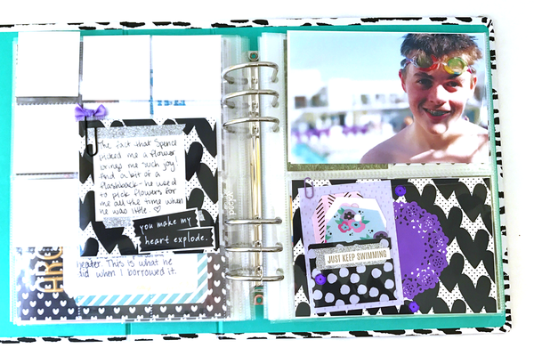 March Project Life Pages By Dani. Papercakes design team. www.serenabee.com