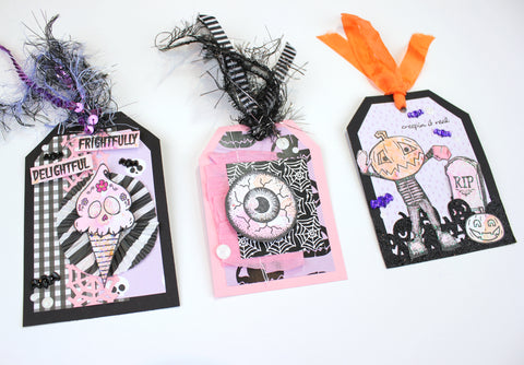 halloween tags. Papercakes by Serena Bee