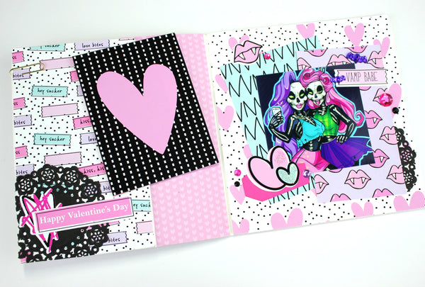 Love Bites Paperbag Cards By Serena Bee. www.serenabee.com