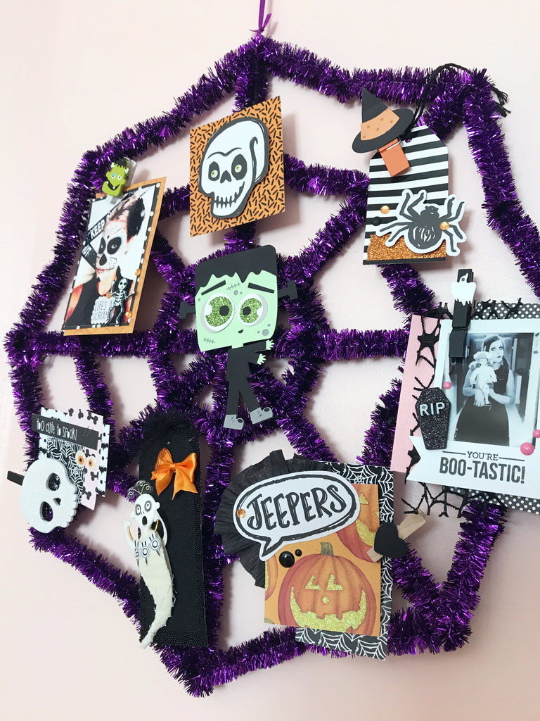 Halloween Memory Web + Tag Tutorial | Halloween Happy Mail Series shop.serenabee.com