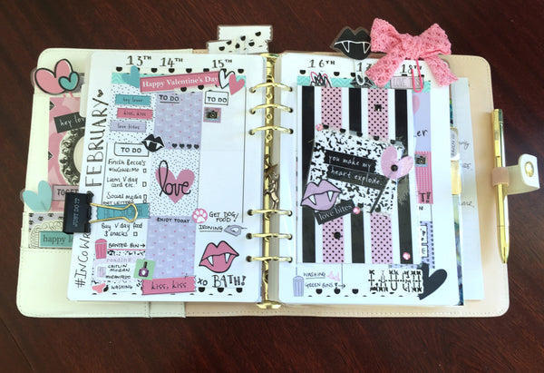 Plan with me: Weekly Planner Spread Ft. Love Bites By Ashleigh | Papercakes Guest Designer. www.serenabee.com