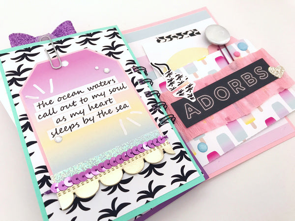 Flipbook Mini Album | Happy Mail Tutorial By Serena Bee https://shop.serenabee.com