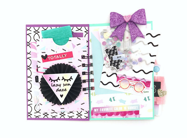 Flipbook Mini Album | Happy Mail snail mail ideas. Tutorial By Serena Bee https://shop.serenabee.com