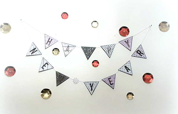 New Year's Party Banner & Table Piece By Rachel. Papercakes Design Team