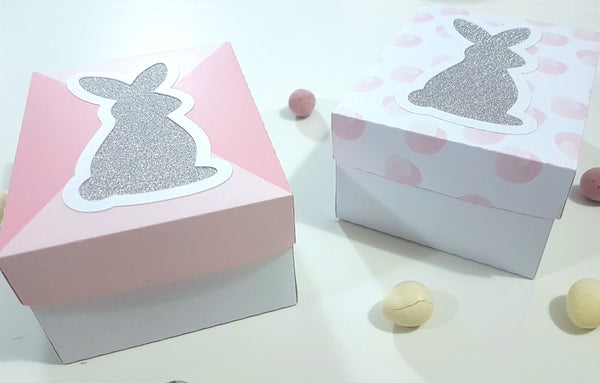 4 Spring/Easter Themed Treat Boxes By Rachel. Papercakes design team. www.serenabee.com