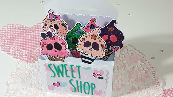 Sweet Shop Box Card By Rachel. Papercakes design team. www.serenabee.com