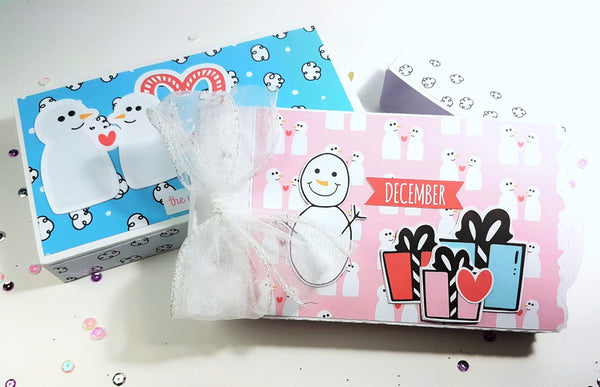 Snow Day Mini Album in a Box By Rachel. Papercakes design team. www.serenabee.com