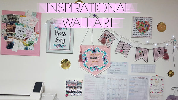 Insprational Wall Art By Rachel. Paperakes design team. www.serenabee.com