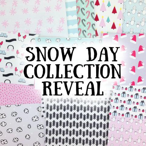 snow day collection reveal. papercakes by serena bee