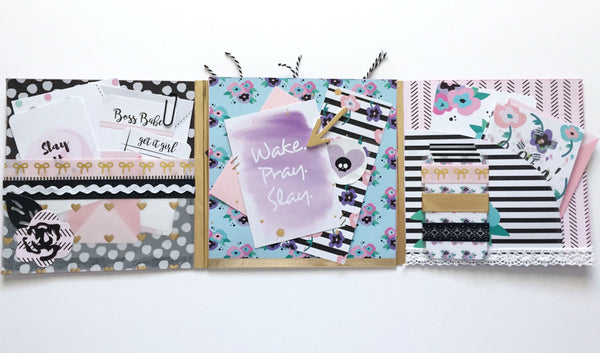 Papercakes Youtube Hop | Slay It Girl Flipbook By Annie. Papercakes design team. www.serenabee.com