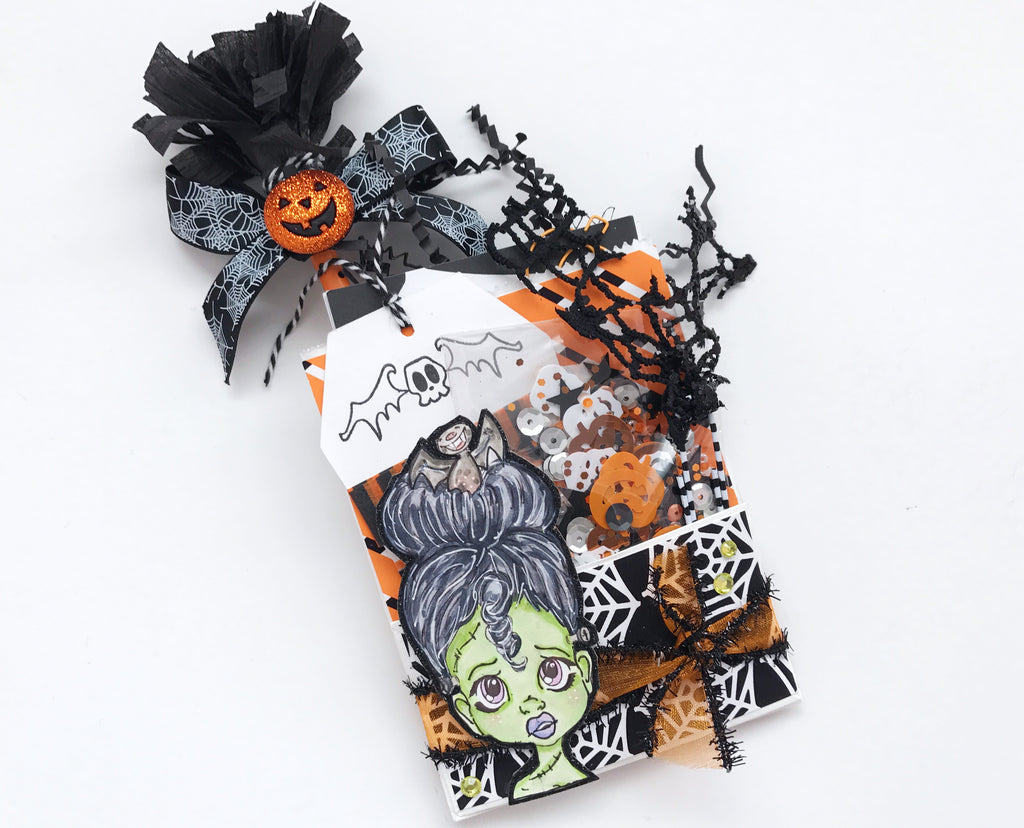 Mini Bag Flips/Loaded Envelopes | Halloween Happy Mail Series shop.serenabee.com