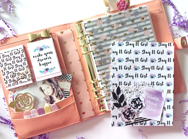 Slay It Girl Planner Setup By Annie. Papercakes design team. www.serenabee.com