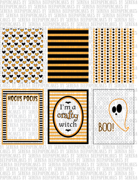 jeepers creepers Halloween 2015 collection. Papercakes by Serena Bee