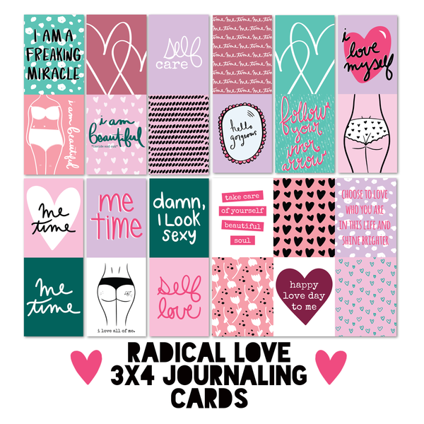 Radical Love 3x4 Journaling Cards