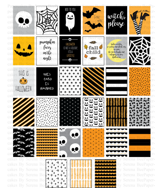 October Nights Printable Scrapbook Collection, October Daily. Papercakes by Serena Bee