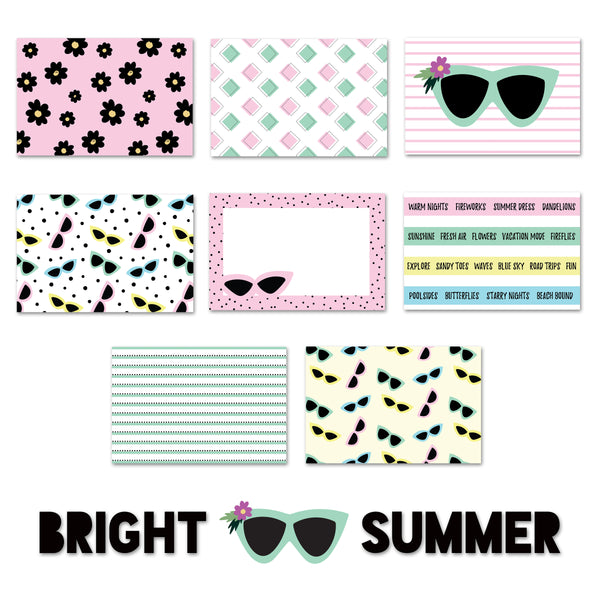 Bright Summer- Journaling Cards + Elements