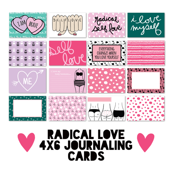 Radical Love 4x6 Journaling Cards