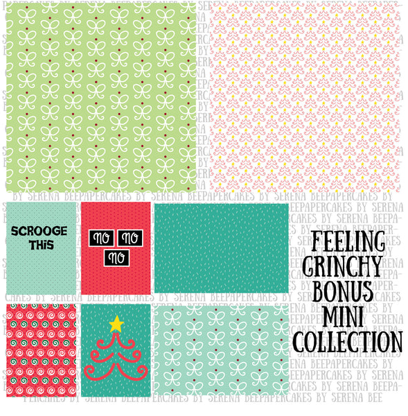 feeling grinchy bonus mini collection. papercakes by serena bee