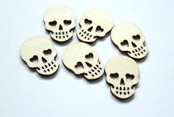 skull wood veneers. papercakes by serena bee