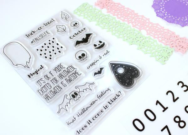 spooky october stamp set. Papercakes By Serena Bee