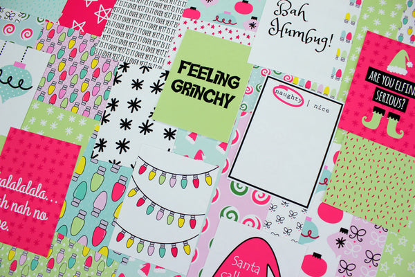 feeling grinchy journaling card collection. papercakes by serena bee