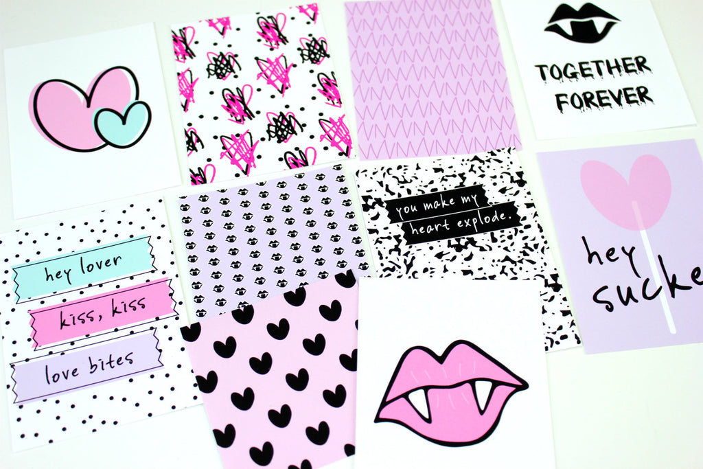 love bites journaling cards. Papercakes by Serena Bee. www.serenabee.com